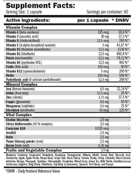 Multi-HD 60 caps liquidas - Amix Nutrition