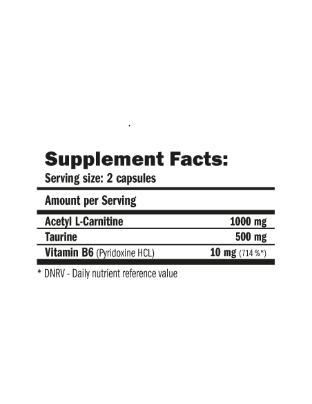ALC 1500mg (Acetil L-Carnitina) 120 caps - Amix Nutrition