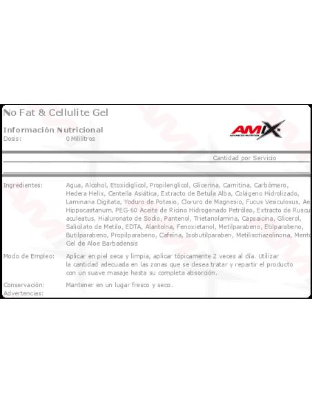 No Fat & Cellulite Gel 200ml - Amix Nutrition